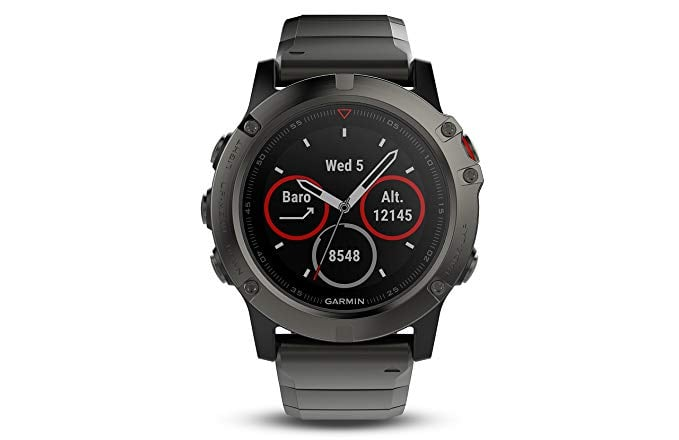 Garmin Fenix 5 Sapphire Slate gray with metal band