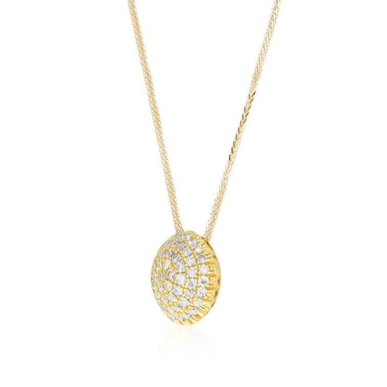 שרשרת פאווה יהלומים 1.65 קראט יהלומים זהב 14 קרט
