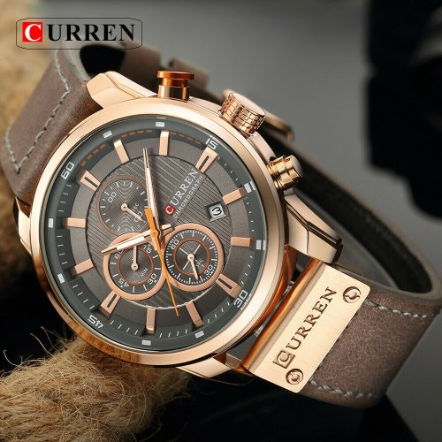 שעון קוורץ לגבר  מותג -  CURREN Chronograph