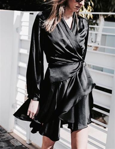 שמלת סו שחור/כתום/ורוד