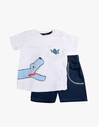 חליפה תינוקות 2 חלקים ציפור