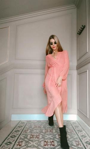 שמלת מעטפת - אפרסק