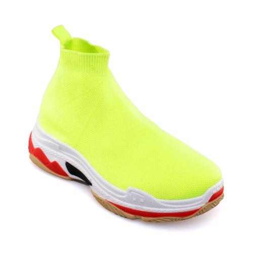 נעל גרב קווארטו - ירוק ניאון