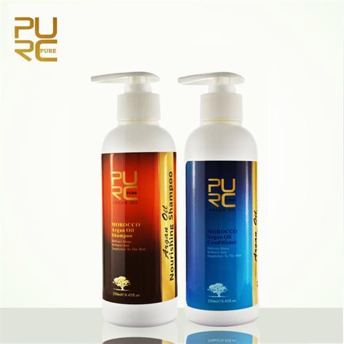שמפו ומרכך על בסיס שמן הארגן לשיער בריא ולברק מוגבר