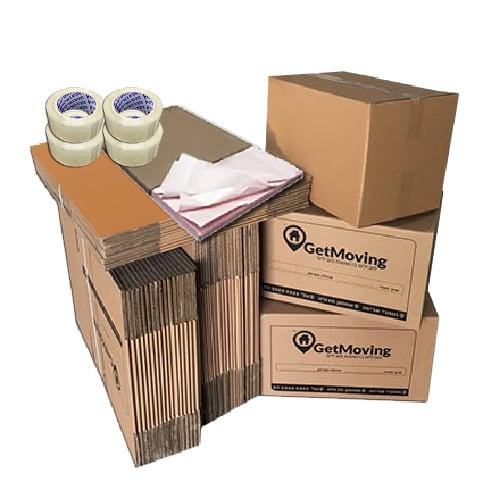 חבילת חומרי אריזה 2 חדרים