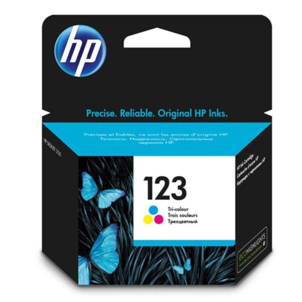 ראש דיו צבעוני מקורי HP 123
