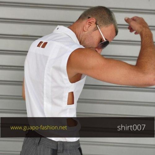 חולצה שנייה לחתן | חולצה לבנה לגברים לאירוע | חולצה מכופתרת ללא שרוולים לגבר