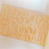 STAR SET OF NUMBERS | 5 cm HIGH | EASY TO USE