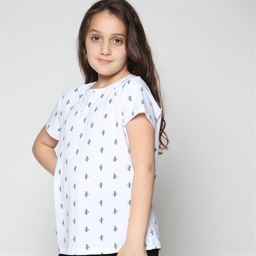חולצה בנות כותנה לייקרה אולאובר