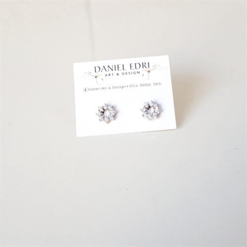 עגיל מעגל צמוד- כסף 925
