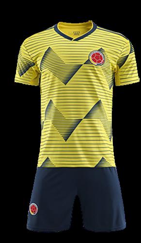 תלבושת הדמייה נבחרת קולומביה צהובה