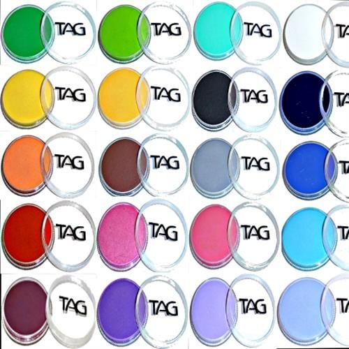 TAG & Diamond fx Regular colors 32 gr צבעי גוף מקצועיים הופואלרגנים בשלל גוונים