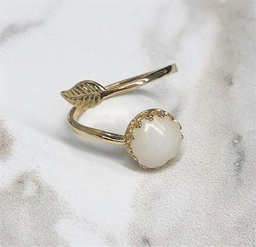 טבעת גולדפילד עלה- שביל החלב-תכשיטים למניקות