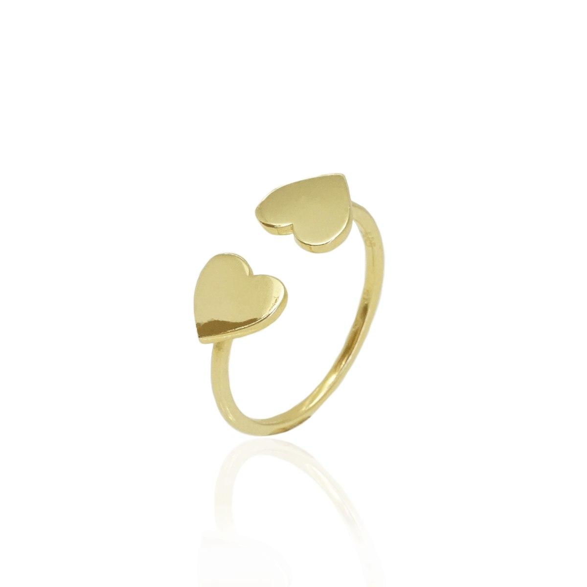 טבעת זהב לב פתוחה 14 קרט