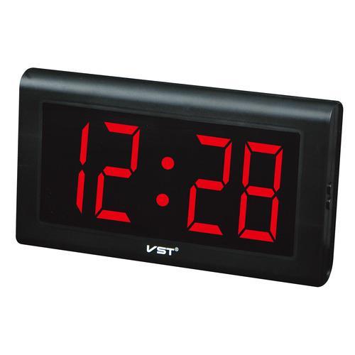 VST795 שעון קיר לד שעה בלבד Pearl