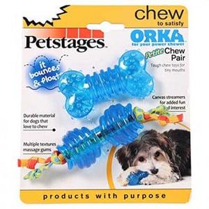 אורקה צעצוע נשיכה לכלב  סיליקון 2 יח