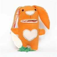 בובת התפתחות ארנב כתום, לתרגול רכיסת רוכסן, אליגזר והגזר
