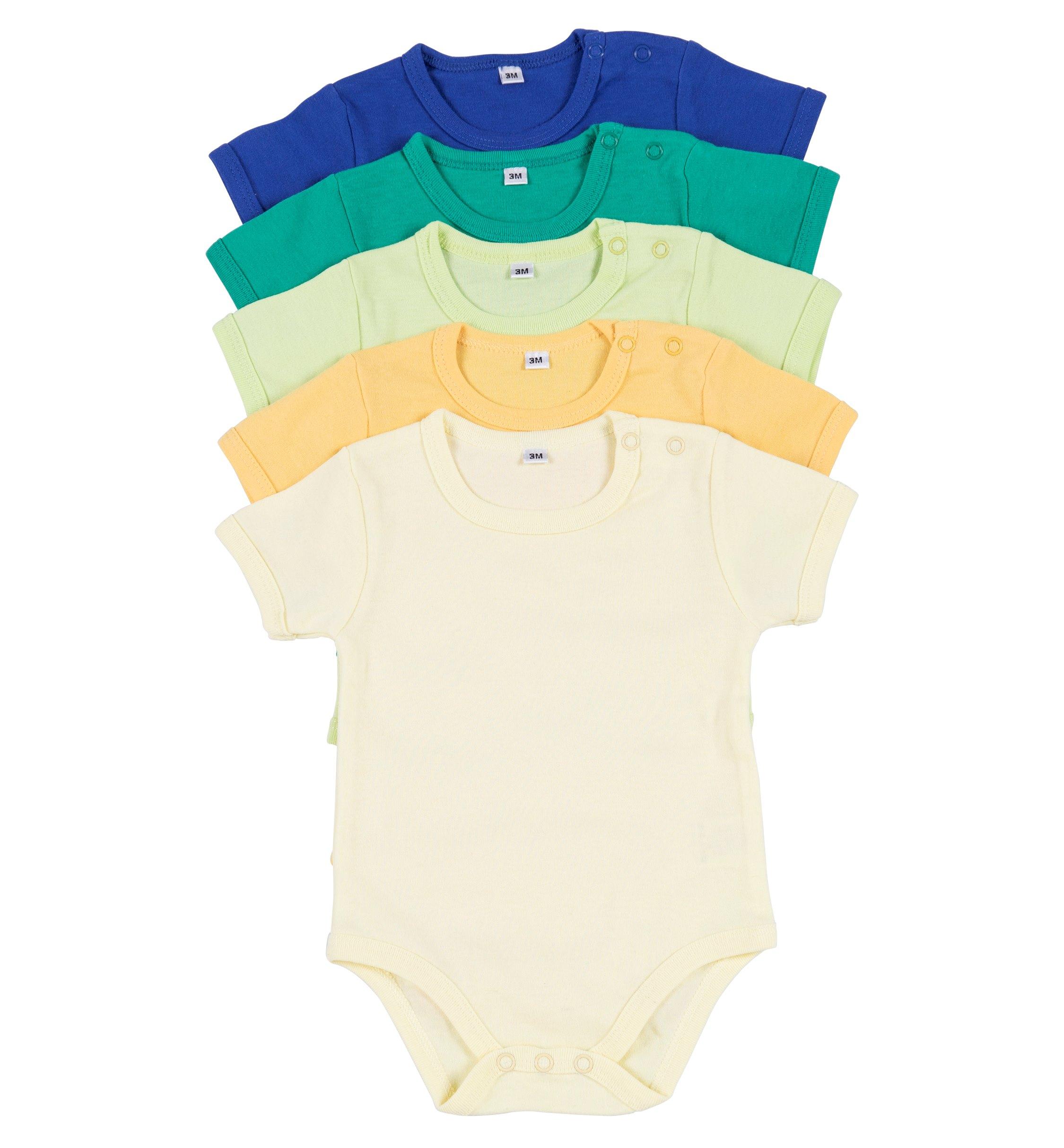 מארז 5 בגדי גוף 9601 רויאל - ירוק - ירוק לימון - צהוב - צהוב בננה