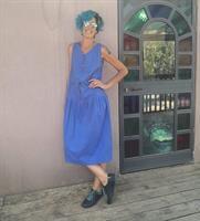שמלת קיבוצניקיות כיפית, מידה M/L