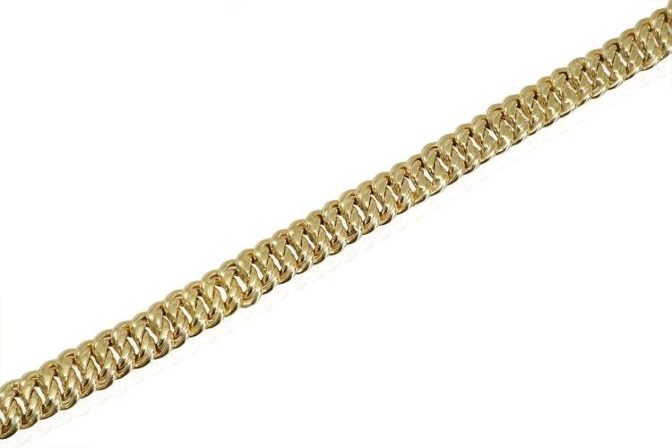צמיד זהב חוליות לאישה 9 ממ מלא נוכחות
