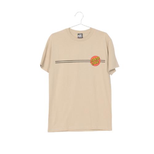 SANTA CRUZ Classic Dot S/S Regular T-Shirt Sand Sm Mens Santa Cruz