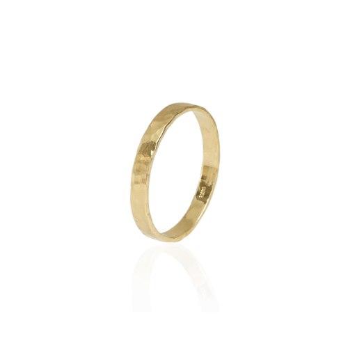 טבעת זהב מרוקעת