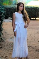 שמלת מקסי כתף אחת בשילוב תחרה מיוחדת