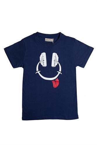 חולצת אוזניות כחולה