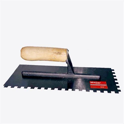 """מאלג'  ידית עץ עם שיניים 280X120 מ""""מ"""