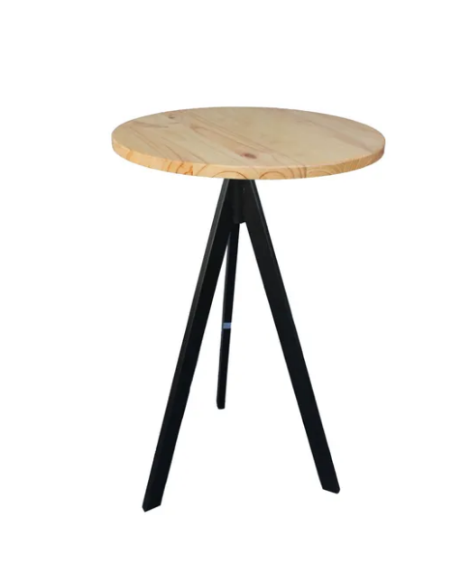שולחן בר רגל שחורה