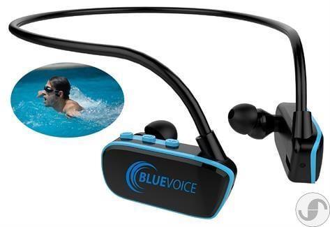 נגן Blue-Voice לשחיה MP3 עמיד במים עם קליפ טעינה דגם חדש 8GB זכרון