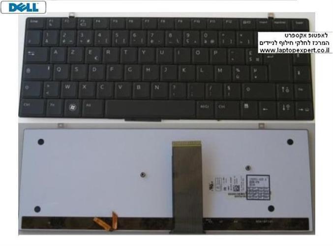 מקלדת למחשב נייד דל כולל תאורה Studio XPS 1340 1640 Backlit Black XSB87 - 0HW184 - NSK-DF101