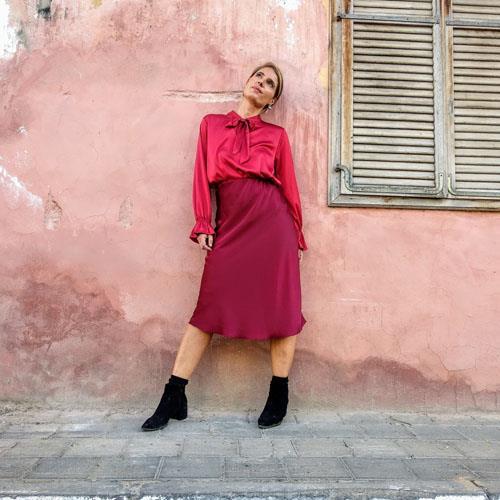 חצאית JENNY בורדו