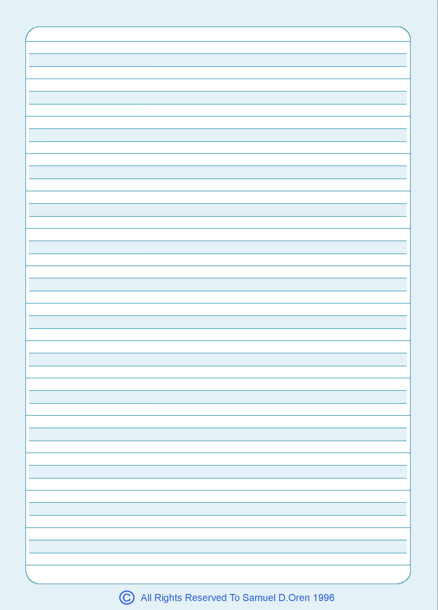 Set of 10 UnBroken Line Notebooks with 14 rows