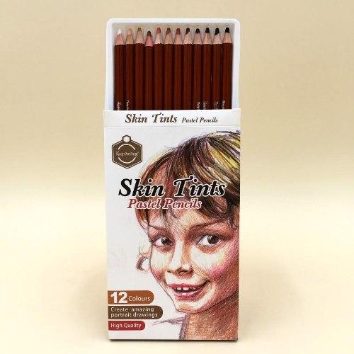 סט 12 עפרונות רישום בצבעי גוף