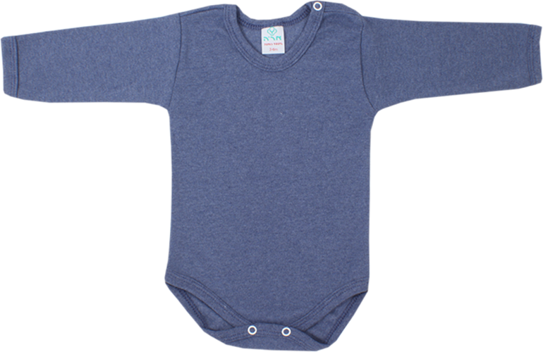 בגד גוף כחול חלק