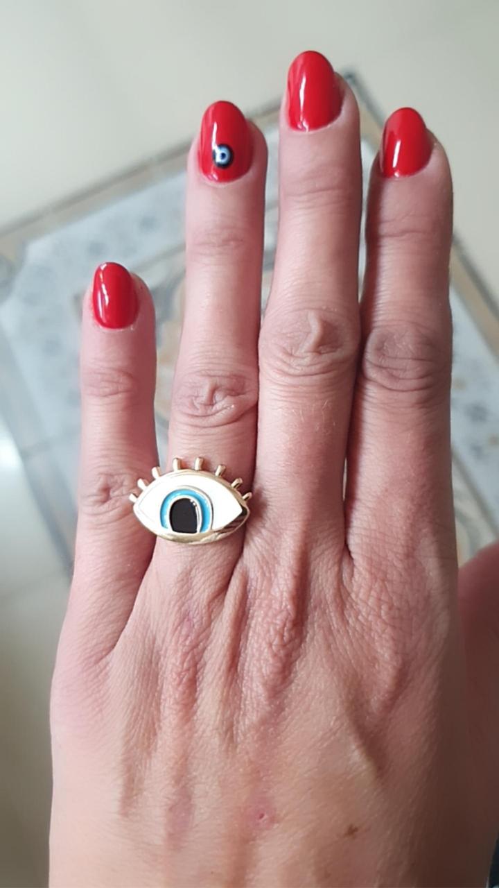 טבעת רותם עין