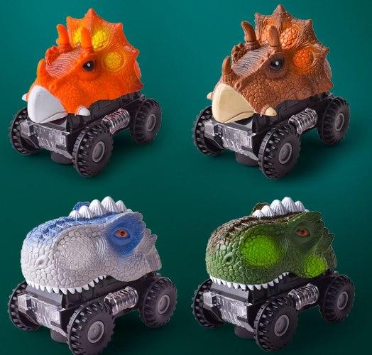 מכונית דינוזאור - אורות LED