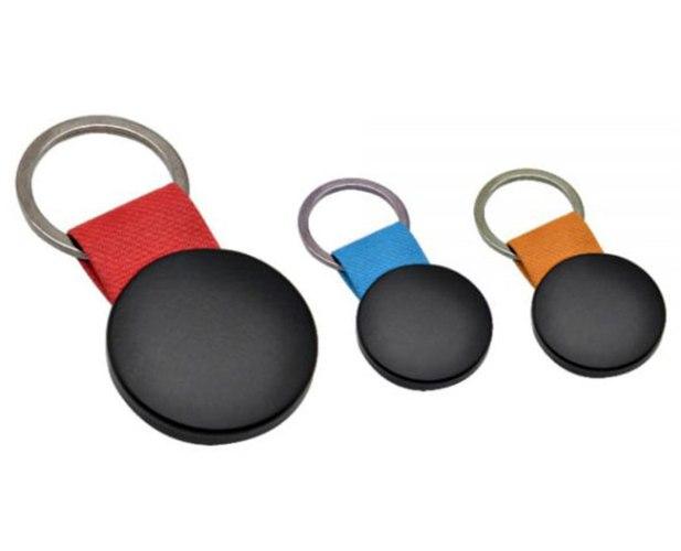 מחזיק מפתחות מתכת שחורה עגול