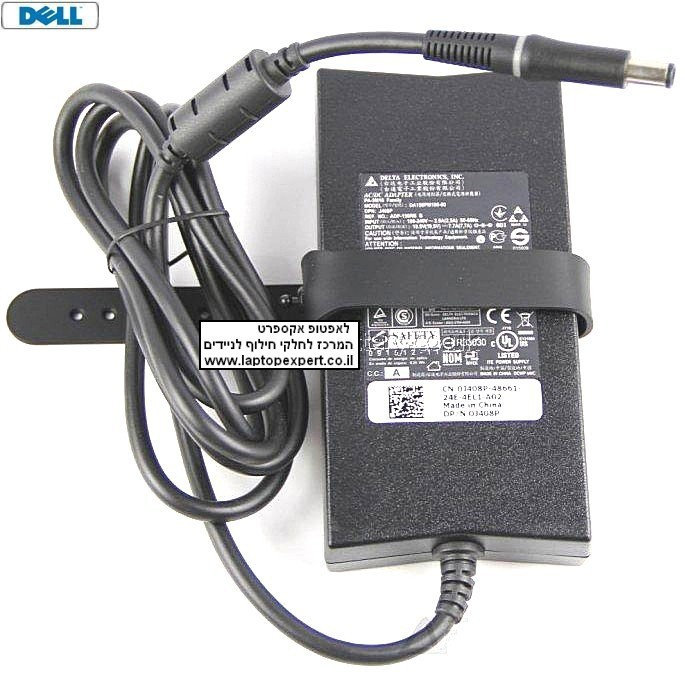 מטען מקורי למחשב נייד דל Dell XPS 15Z L502X 19.5V 150W 7.7A Slim AC Power Adapter - OJ408P