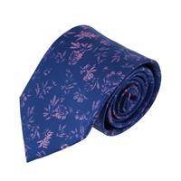 עניבה פרחים מארבל ורוד כחול