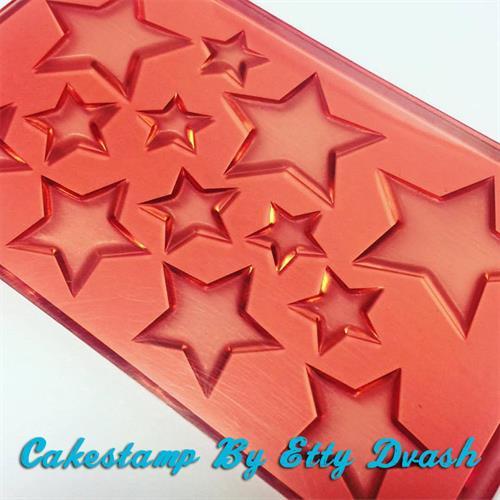 תבנית כוכבים ליצירה בשוקולד