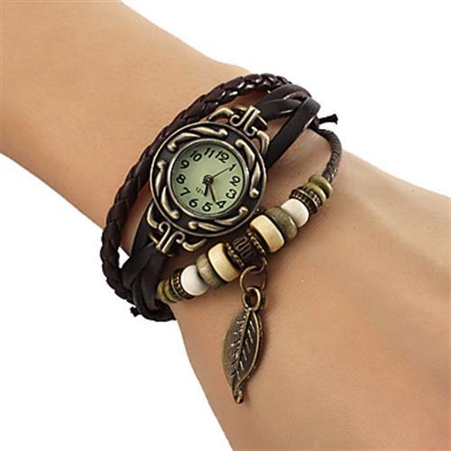 Leaf Pendent Bracelet Watch