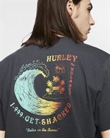 HURLEY GET SHACKED  T-SHIRT- BLACK
