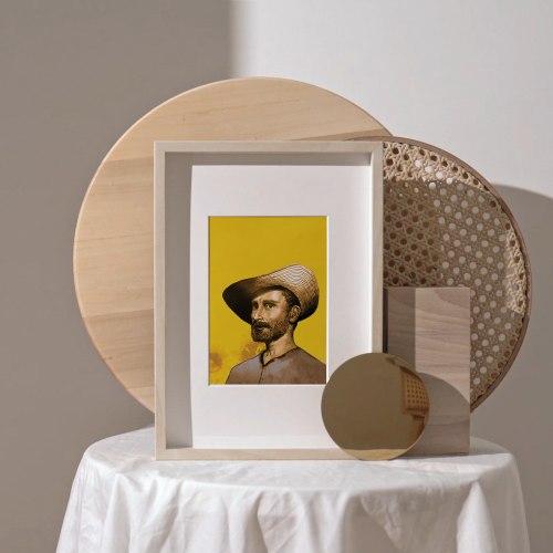 הדפס פורטרט של ואן גוך