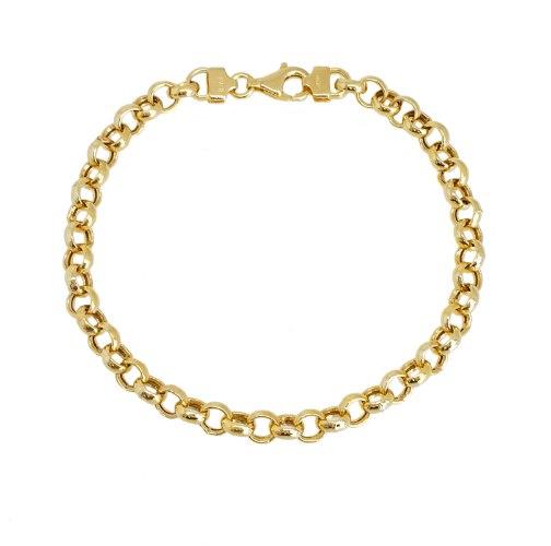 צמיד יד  חוליות לאשה זהב 14 קרט