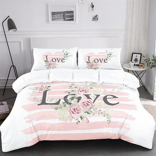 סט מלא מיטה וחצי דגם אהבה לנצח 100% כותנה טהורה