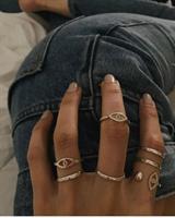 טבעת עין פתוחה כסף
