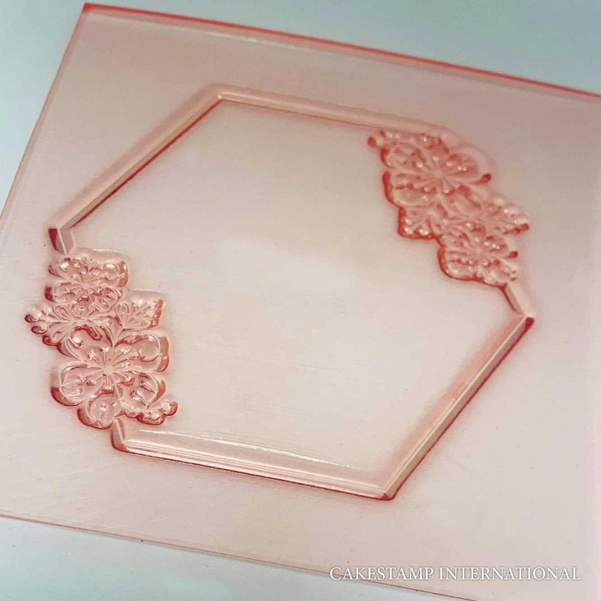Hexagon Embosser Stamp Paris | Hexagon Frame Flexible Polymer Stamp | NEW
