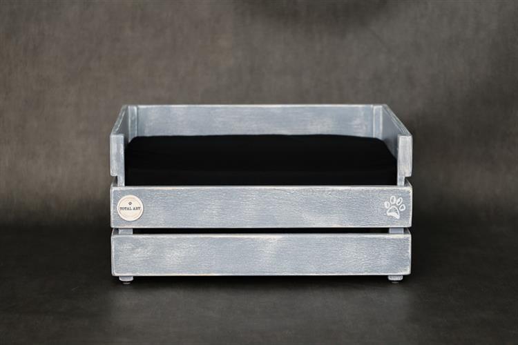מיטה לכלב - דינגו אפור בטון  עם לייסט נוסף M